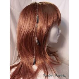 Chaînette cheveux plumes geai
