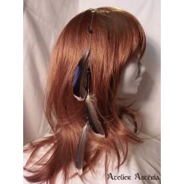 Chaînette cheveux plumes canard colvert